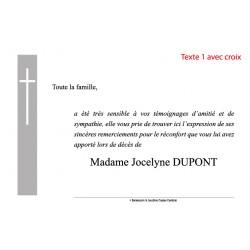 Texte 1 avec croix