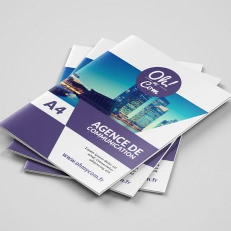 Brochures agrafées A4